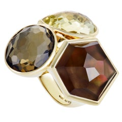 Rock Candy 18 Karat Yellow Multicolored Stone Cocktail Ring