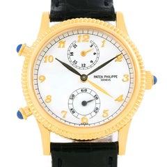 Patek Philippe Calatrava Travel Time Yellow Gold Ladies Watch 4864J Papers
