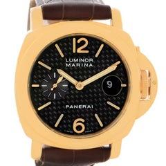 Panerai Luminor Marina 18 Karat Yellow Gold Watch PAM140 PAM00140