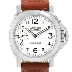 Panerai Luminor Marina White Dial Watch PAM00003 Box Papers