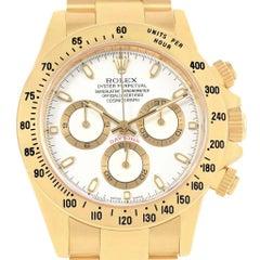 Rolex Daytona Yellow Gold White Dial Chronograph Watch 116528