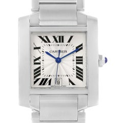 Cartier Tank Francaise Silver Dial Stainless Steel Watch W51002Q3