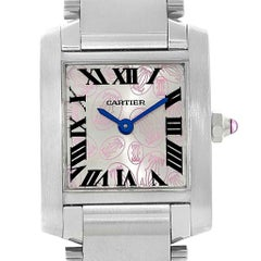 Cartier Tank Francaise Silver Pink Dial Limited Edition Watch W51031Q3