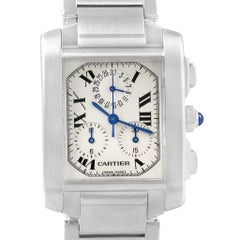 Cartier Tank Francaise Stainless Steel Chronoflex Men's Watch W51001Q3