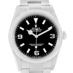 Rolex Explorer I Black Dial Stainless Steel Men's Watch 114270
