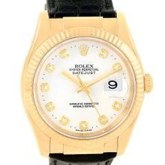 Rolex Datejust 36 Yellow Gold White Diamond Dial Unisex Watch 116138