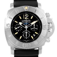 Panerai Luminor Submersible Chrono 1000M Watch PAM187 Box Papers