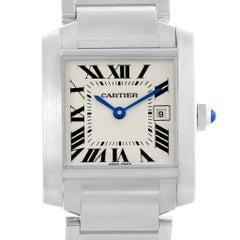 Cartier Tank Francaise Midsize Silver Dial Ladies Watch W51011Q3
