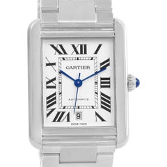 Cartier Tank Solo Extra Large Automatic Silver Dial Men's Watch W5200028
