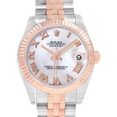 Rolex Datejust 31 Midsize Steel Rose Gold MOP Watch 178271 Unworn