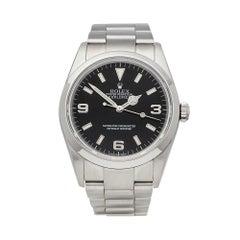 2002 Rolex Explorer I Stainless Steel 114270 Wristwatch