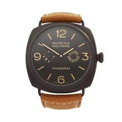 2012 Panerai Radiomir 8 Giorni Brevettato Ceramic PAM00339 Wristwatch
