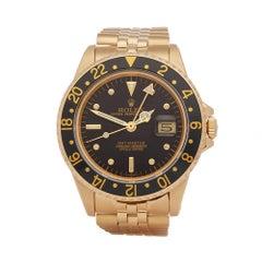 1981 Rolex GMT-Master Yellow Gold 16758 Wristwatch