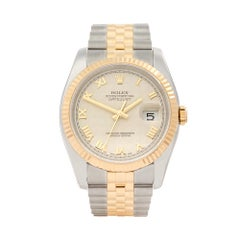 2016 Rolex Datejust Steel and Yellow Gold 16233 Wristwatch