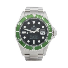 2007 Rolex Submariner Kermit NOS Stainless Steel 16610LV Wristwatch