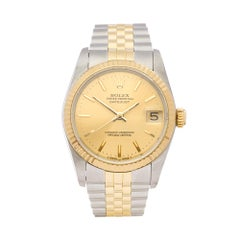1989 Rolex Datejust Steel and Yellow Gold 68273 Wristwatch