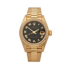 1991 Rolex Datejust Blood Stone Yellow Gold 69178 Wristwatch