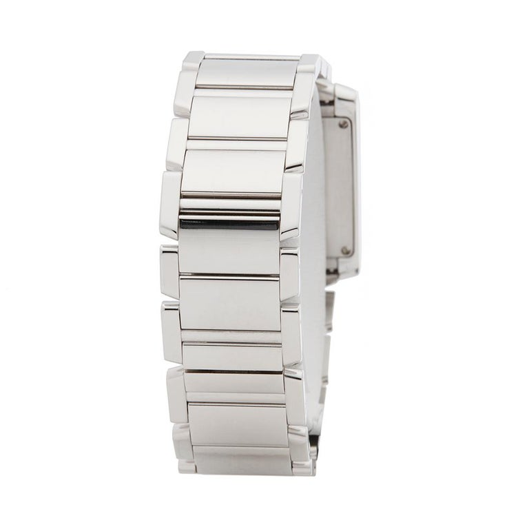 2000s Cartier Tank Francaise Diamond White Gold 2404MG Wristwatch 1