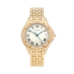 2000's Cartier Panthère Cougar Yellow Gold 2524 Wristwatch