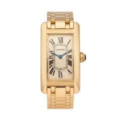 1990s Cartier Tank Americaine Yellow Gold 1710 Wristwatch