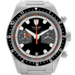 Tudor Heritage Chrono Black Grey Dial Men's Watch 70330N Card