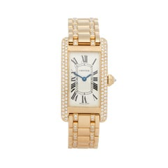 2000s Cartier Tank Americaine Yellow Gold 1711 Wristwatch