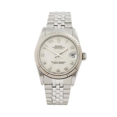 1990 Rolex Datejust Steel and& White Gold 68274 Wristwatch