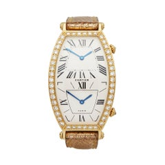 1980 Cartier Tonneau Yellow Gold W1502853 Wristwatch