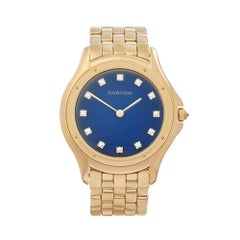 1990's Cartier Panthère Cougar Yellow Gold 8879 Wristwatch