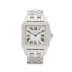 2000s Cartier Santos Demoiselle Stainless Steel W25065Z5 or 2701 Wristwatch