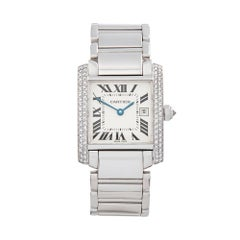 2000 Cartier Tank Francaise White Gold 2491 or WE1018S3 Wristwatch