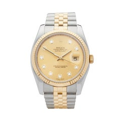2008 Rolex Datejust Steel and Yellow Gold 116233 Wristwatch