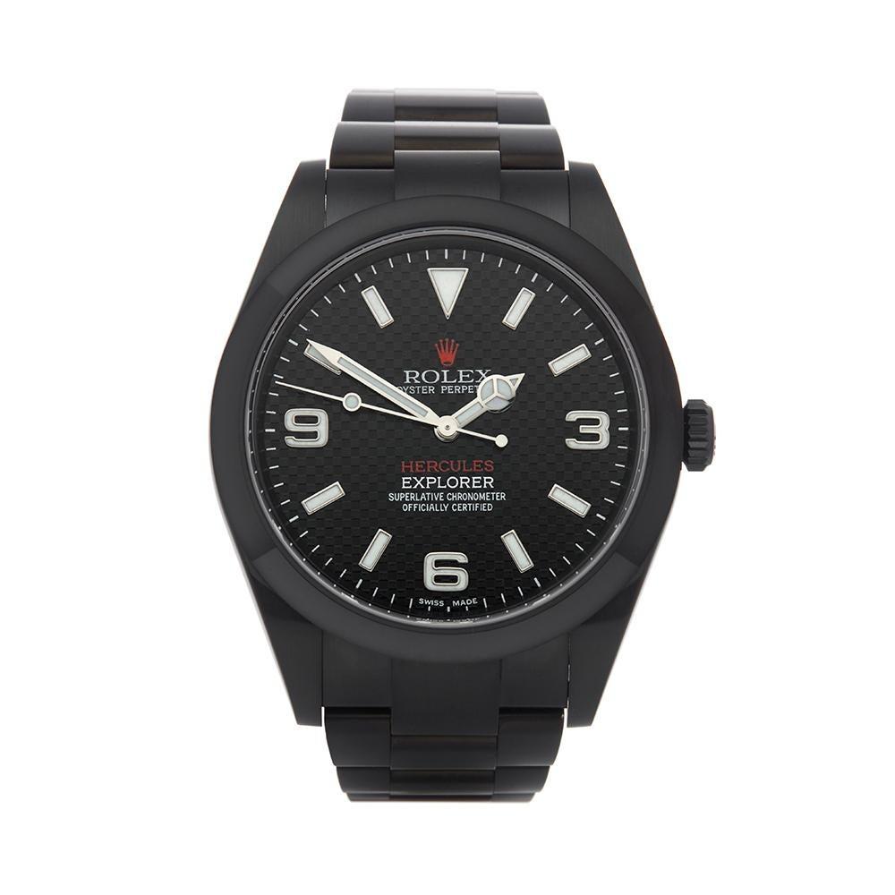 2018 Rolex Explorer I Hercules Custom Stainless Steel 214270 Wristwatch