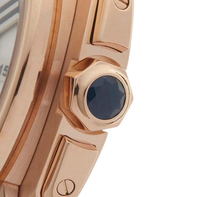 Contemporary 2017 Cartier Calibre Central Chronograph Rose Gold 3242 or W7100004 Wristwatch  *  *Complete with: Box, Manuals & Open Guarantee dated open  *Case Size: 44mm  *Strap: Brown Crocodile Leather  *Age: 2017  *Strap length: Adjustable up to