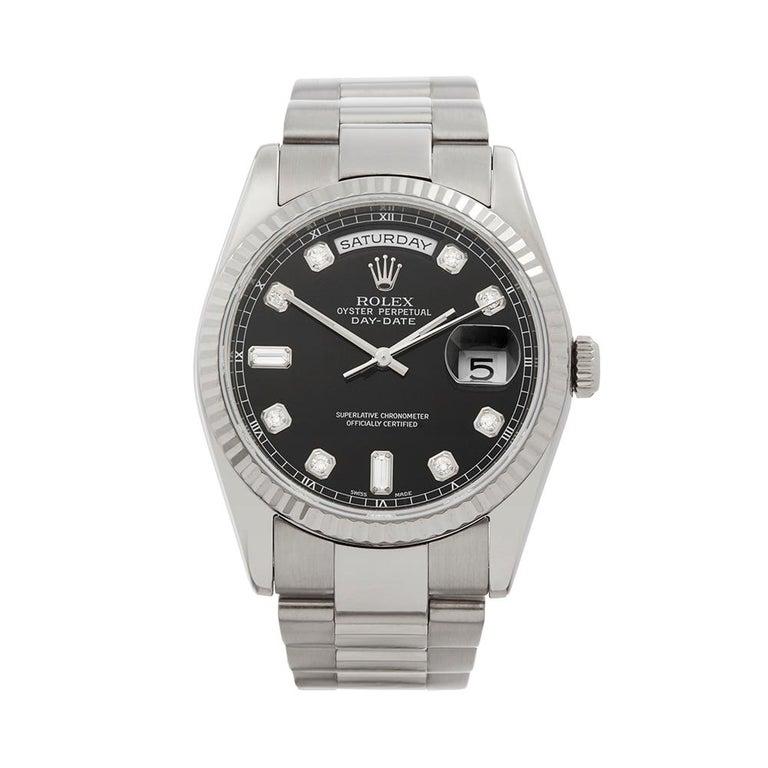 2000 Rolex Day-Date White Gold 118239 Wristwatch