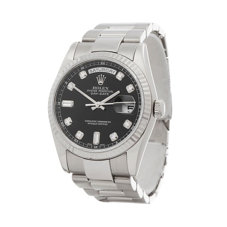 2000 Rolex Day-Date White Gold 118239 Wristwatch 2