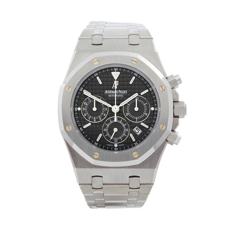 2000s Audemars Piguet Royal Oak Chronograph Stainless Steel Wristwatch For Sale