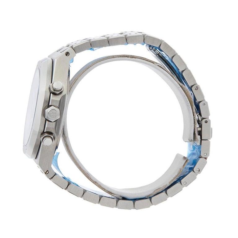 Men's 2000s Audemars Piguet Royal Oak Chronograph Stainless Steel Wristwatch For Sale