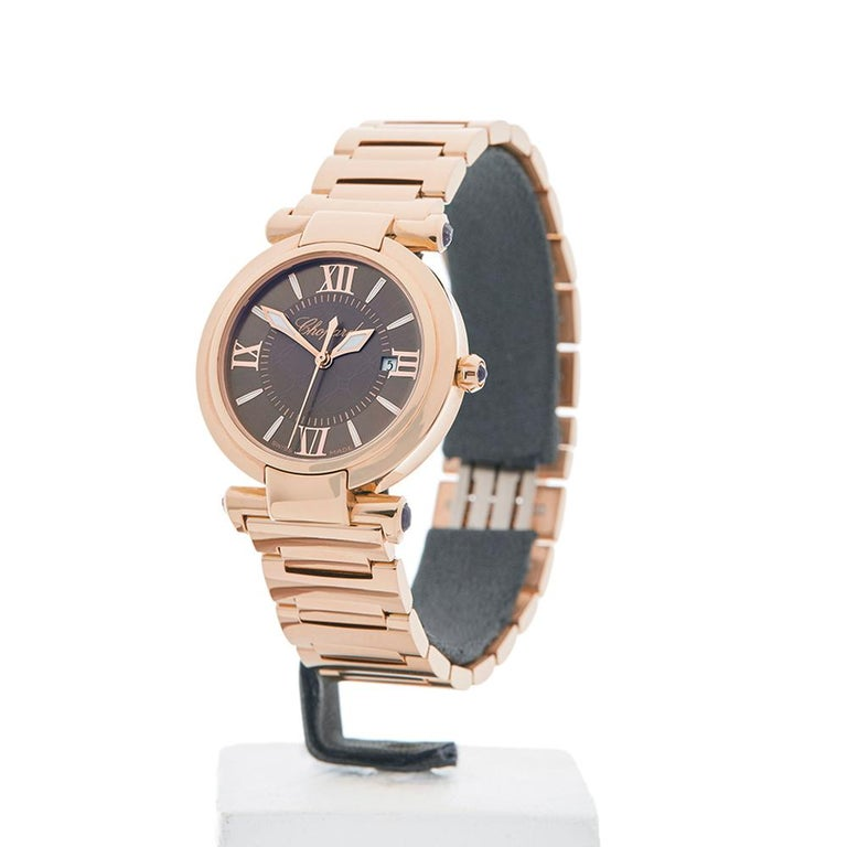 Women's 2017 Chopard Imperiale Rose Gold 384238-5006 Wristwatch For Sale