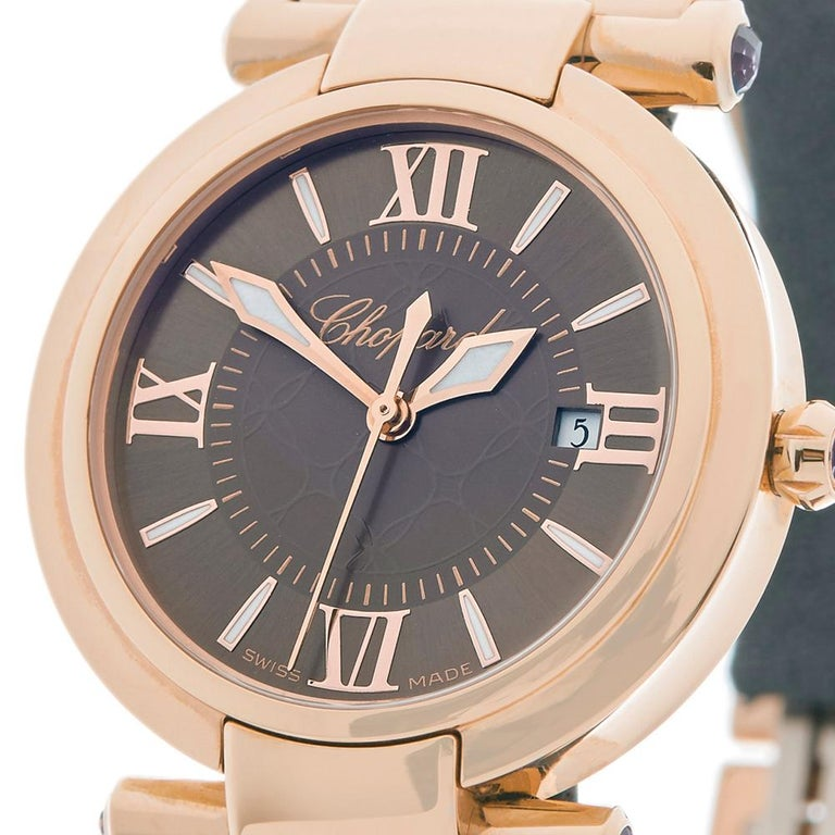 2017 Chopard Imperiale Rose Gold 384238-5006 Wristwatch For Sale 1