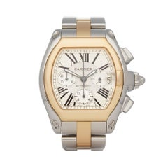 2000 Cartier Roadster Chronograph Stainless Steel 1618 Wristwatch