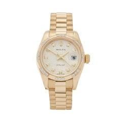 2001 Rolex Datejust 26 Diamond Yellow Gold 179368 Wristwatch