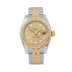 2005 Rolex Datejust Steel and Yellow Gold 179173 Wristwatch