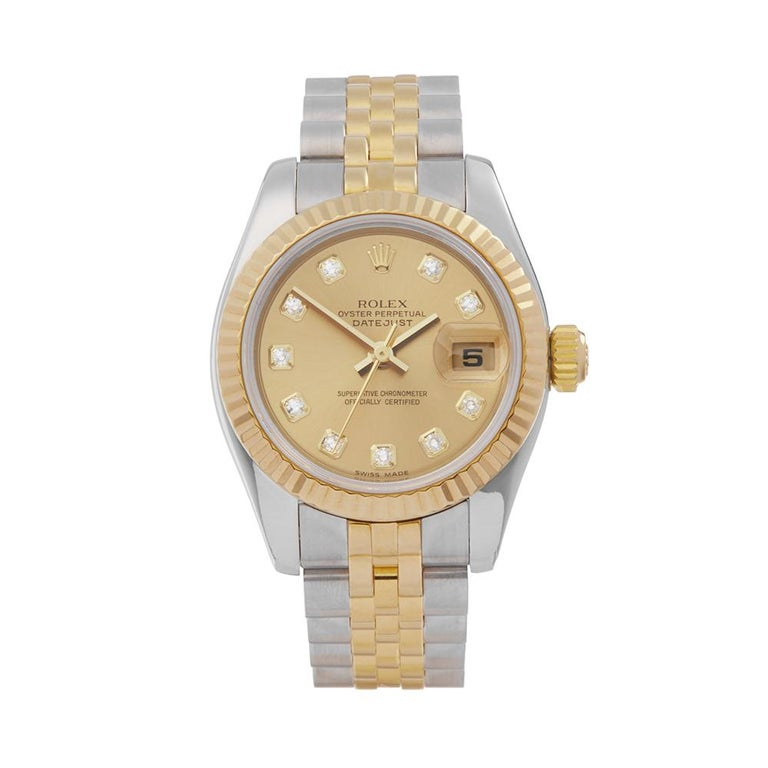 Rolex Datejust steel and yellow gold ref. no. 179173 wristwatch, 2005, offered by Xupes