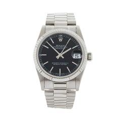 1991 Rolex Datejust White Gold 68279 Wristwatch