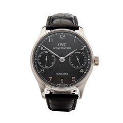 2010s IWC Portuguese 7 Day Stainless Steel IW500106 Wristwatch