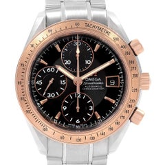 Omega Speedmaster Steel Rose Gold Watch 323.21.40.40.01.001 Box Card