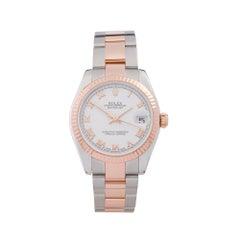 2009 Rolex Datejust Steel & Rose Gold 178271 Wristwatch