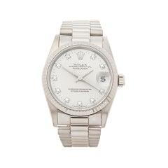 1990 Rolex Datejust White Gold 68279 Wristwatch