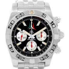 Breitling Chronomat 01 Black Dial Steel Men's Watch AB0110 Unworn
